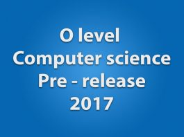 O level computer science pre release solution oct/nov2017