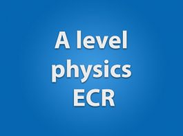 A level physics ecr