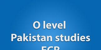 O level pakistan studies ECR