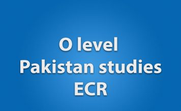 O level pakistan studies ECR