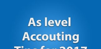 As accounting exam tips
