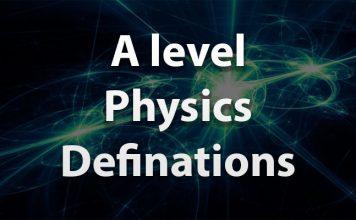 A level physics definations