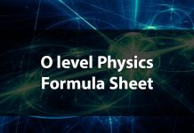 O level physics formula sheet