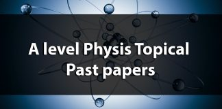 A level physics topical Past papers