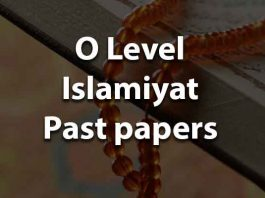 O Level Islamiat Past Papers