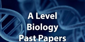 A Level Biology Past papers cover