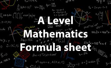 A level Maths formula sheet