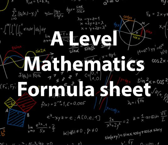 A level Maths formula sheet