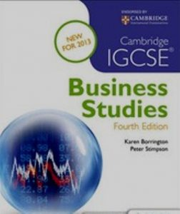 Cambridge Igcse Business Studies Fourth Edition Pdf