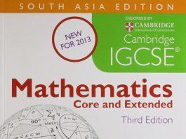 IGCSE Mathematics book cover pdf
