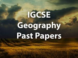 IGCSE Geography Past papers