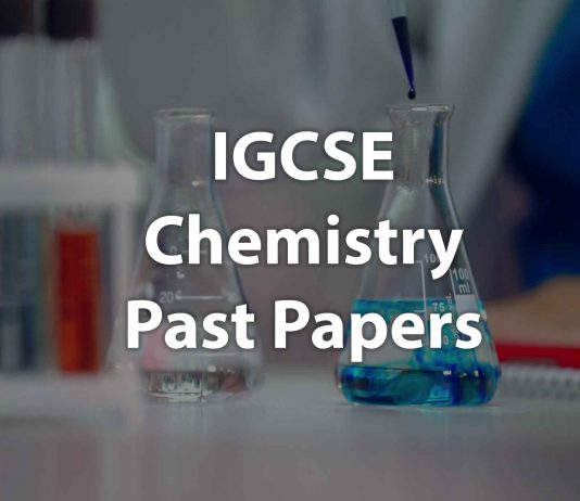 IGCSE Chemistry past papers cover