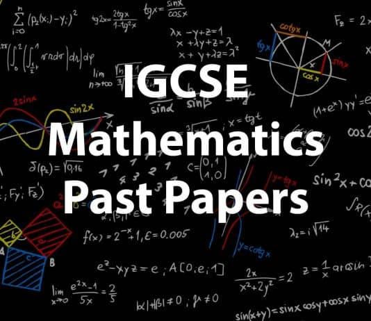 IGCSE Mathematics Past papers