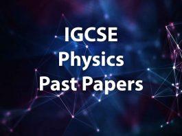 igcse physics past papers