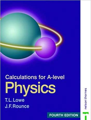 Calculations for a level physics book cover image